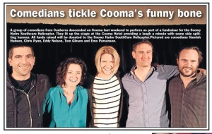 Comedians tickle Cooma's funny bone
